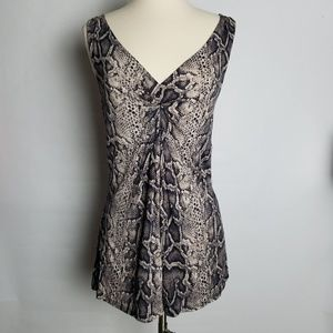INC International Concepts snakeskin pattern top M